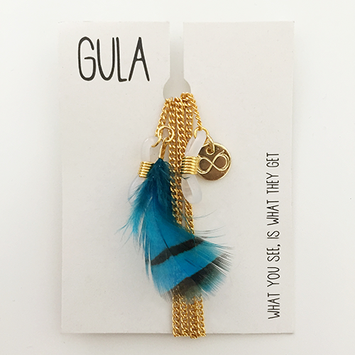 GULA VISION – A TOUCH OFF GOLD_BLUE FEATHER